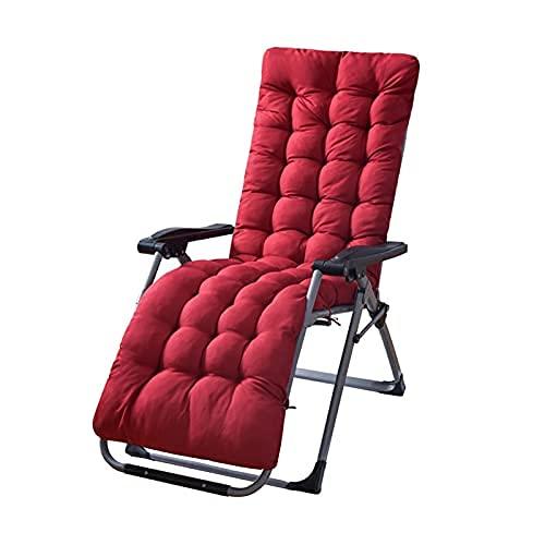 ZBBN Cojín para Tumbona Cojín para sillón Cojín para sillón de Terciopelo Espesar Armchair Asiento Cojín Silla de Oficina Colchón Cojín de Masaje (Color: Borgoña, Especificación: 48x170cm)