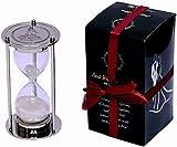 Temporizador de arena de cristal de arena, personalizable, color plateado, regalo de boda personalizado, ceremonia de arena, contemporáneo, reloj de arena