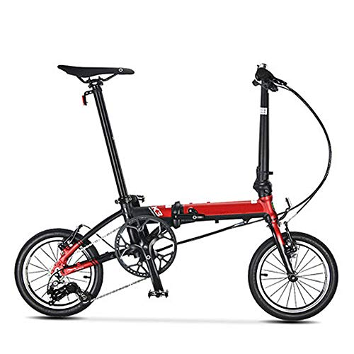 Great Features Of RXRENXIA Folding Bike, Adult Two-Wheel Mini Cycling 14 Inch Ultra Light Small Whee...