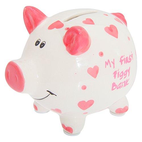 """Lesser & Pavey, salvadanaio per bambini e bambine con la scritta in lingua inglese: """"My First Piggy Bank"""" , Pink, taglia unica"""