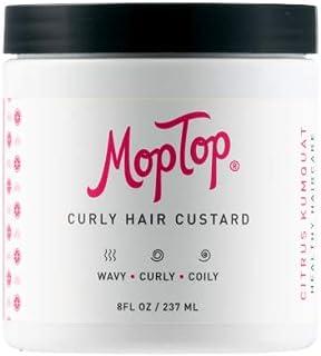 8oz, MopTop Curly Hair Custard Gel for Fine, Thick, Wavy, Curly & -Coily Natural hair, Anti Frizz Curl Moisturizer, Define...