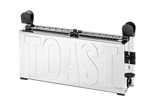 Grille Pain Trabo B2244N Toaster Acier et Noir Design Gae Aulenti