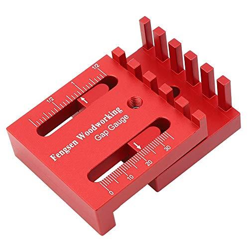 Regla de diente de sierra de medición de profundidad, herramienta de carpintería de calibre pequeño para carpintería de alta precisión para obras de construcción