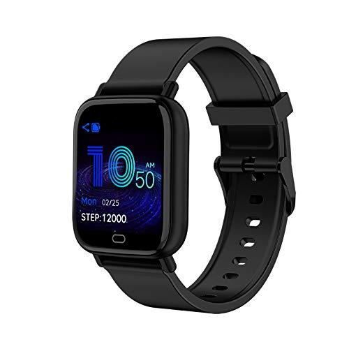 TOOGOO S20 Pantalla a Color Reloj Deportivo a Prueba de Agua Frecuencia CardíAca PresióN Arterial Pulsera de OxíGeno en Sangre Reloj Inteligente para Android iOS - Negro