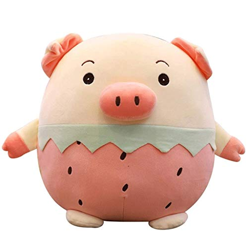 WJTMY Cerdo Lindo Juguete de Felpa Suave Relleno de Frutas Animal Piggy muñeca Almohada-piña Cerdo (Color : B, Size : 35cm)