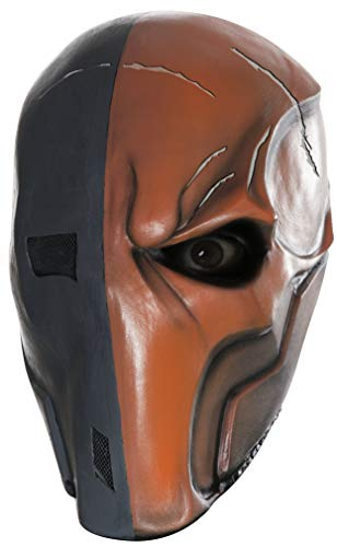 Rubie's Men's Arkham City Death Stroke 3/4 Vinyl Mask, Multi, One Size
