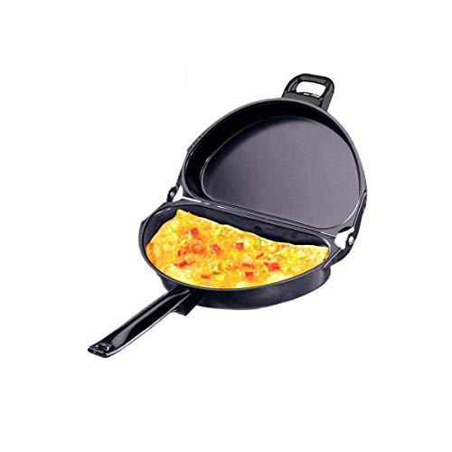 IUYJVR Sartén Plegable sartén de Desayuno de Doble Cara sartén con Revestimiento Antiadherente Parrilla Utensilios de Cocina para panqueques sin Humo Herramienta de Cocina