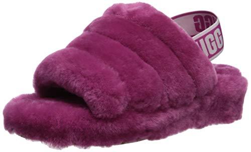 UGG Women's Fluff Yeah Slide Wedge Sandal, Fuchsia, 7 M US