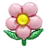 Zcm Globo Grande Feliz cumpleaños Girasol Hoja hincha Decoraciones Fiesta de cumpleaños de los Juguetes clásicos de decoración heronsbill jardín (Color : Clear)