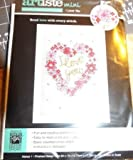Artiste Mini Counted Cross Stitch Card Kit - I Love You