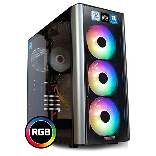 dcl24.de [11311] Gaming PC RGB Level 20 Intel i9-9900KF 8x3.6 GHz - Z390, 500GB M.2 SSD & 2TB HDD, 32GB DDR4, RTX2080 Super 8GB, WLAN, Windows 10 Pro Spiele Computer Rechner
