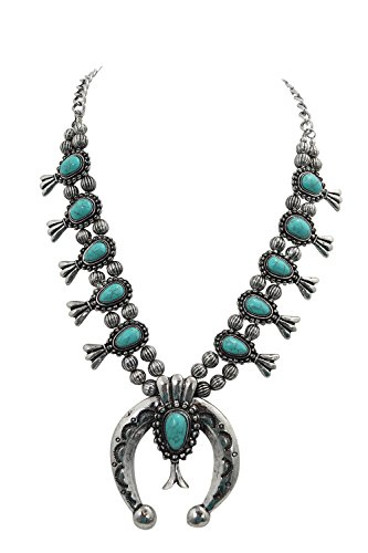 10 best squash blossom necklace turquoise faux for 2020