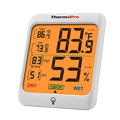 ThermoPro TP53 Digital Hygrometer Indoor Thermometer for Home, Temperature Humidity Sensor...