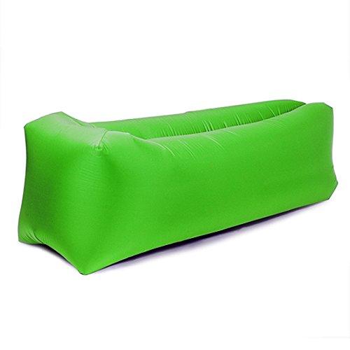Sleeping Cloud Inflatable Lounger Bag Ripstop - Outdoor Hammock Portable Air Sofa Bag - Hangout Air Couch Sleeping Bag For Hiking Camping Picnics&Music Festivals (Green)