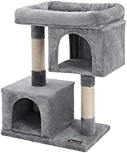 FEANDREA Cat Tree for Large Cats, Cat Tower 2 Cozy Plush Condos and Sisal Posts Cat House UPCT61W