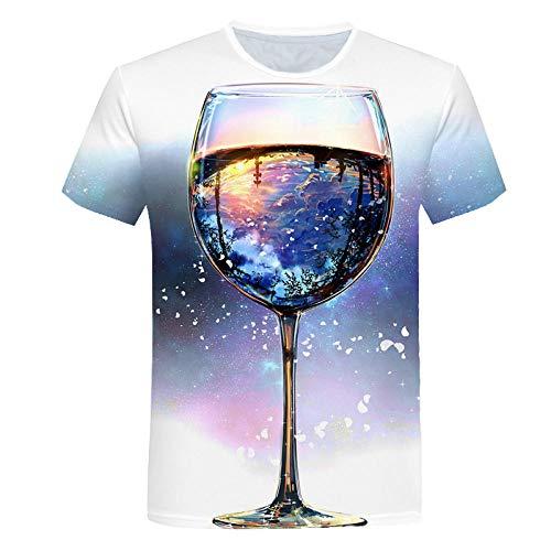 LiNjunFc T-Shirts pour Hommes T-Shirts Surdimensionnés pour L'Été Noir Vêtements À Manches Courtes Tops Rubik's Cube T-Shirt-06_XS Motif Avant = Motif Arrière