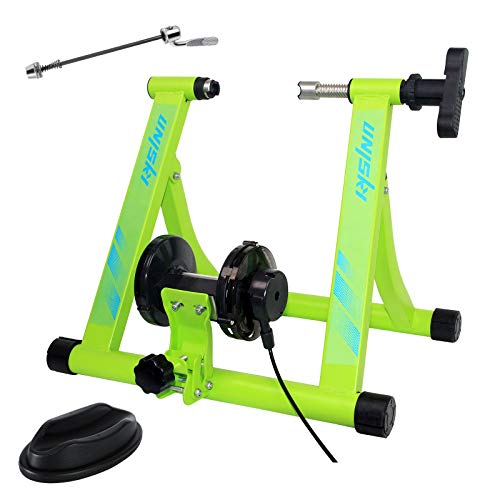Unisky Bike Trainer Stand Indoor Exercise Bicycle Training Stand Magnetic Riding Stand with 6 Level Resistance for Mountain amp Road Bike…