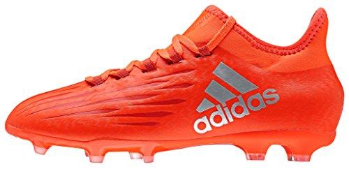 adidas Jungen X 16.1 Fg J Fußballschuhe, Rot (solar Red/silver Met,/hi-res Red), 36 EU