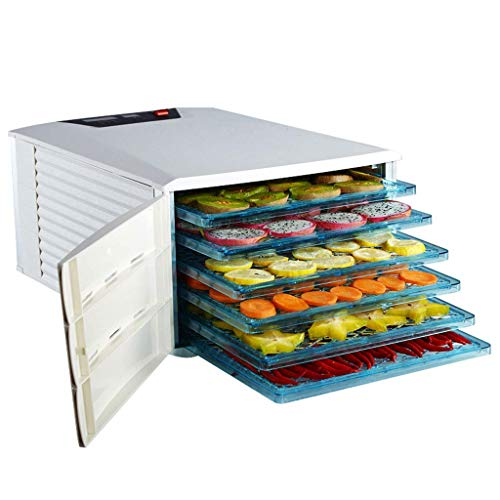 HJTLK Food Dehydrators,Fruit Dehydrator,Electric Multi-Function Mute with 6-Layer ABS Tray Adjustable Temperature Timing for Vegetable Meat Solubl