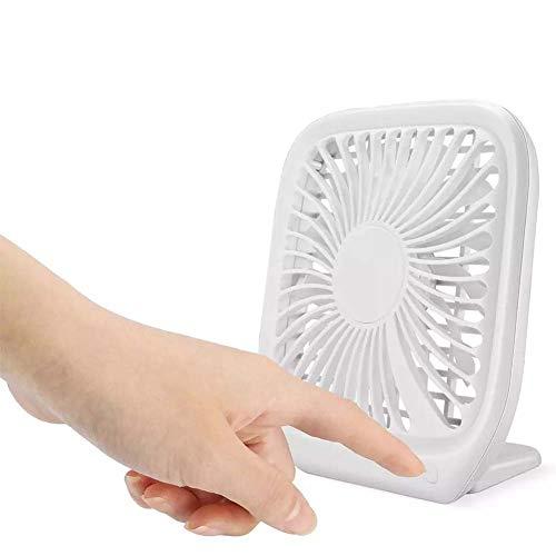 SHAIRMB Mini Ventilador Escritorio PortáTil con AlimentacióN por USB, DiseñO Ultrafino, Ventilador RefrigeracióN Mesa 3 Velocidades, para Escritorio, Oficina, Viajes, Acampada, Pesca, DecoracióN