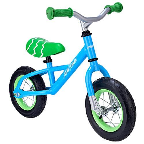 Bicicleta De Balance De Niños De 10 Pulgadas, Adecuada para 2 A 5 Años, Sin Pedal De Entrenamiento En Bicicleta, Bicicleta De Cochecito De Bebé, Bicicleta De Equilibrio para Niños,Azul