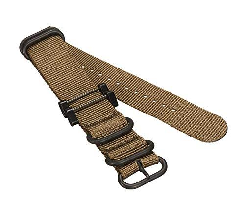 TENGGO Bracelet De Bracelet De Montre en Nylon De Remplacement pour Suunto Essential/Core/Traverse Series 29 X 2.5 Cm-Kaki