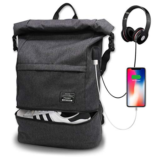Waterproof Laptop Travel Backpack, Large College High School Backpacks, Anti Theft Carry on Backpack with USB Charging Port for Teenagers, Men and Women, Fits 15.6 inches Laptop