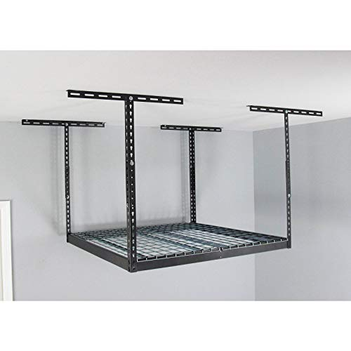 MonsterRax – 4x4 Overhead Garage Storage Rack - 24' - 45' Height Adjustable Steel Overhead Storage...