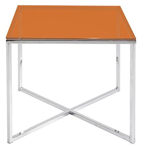 Vivace Fun Bijzettafel vierkant, 50 x 50 x 45 cm 50 x 50 x 45 cm Oranje