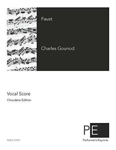 Faust - Vocal Score