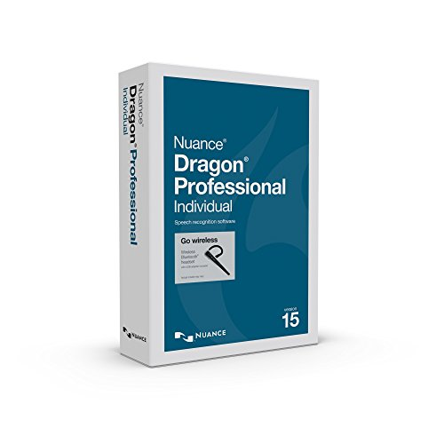 Dragon Professional Individual 15 with Bluetooth Headset, Dictate Documents and Control your PC – all by Voice, [PC Disc]