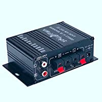 Luntus Hi-Fi 20Wx2ミニステレオアンプ、12V 2チャネル、オーディオ、プレーヤー、サポート電話DVD入力、二輪車用