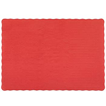 Perfectware Placemats Red-100 Red Emobossed Paper Placemats 0.1  Height 14  Width 10  Length  Pack of 100