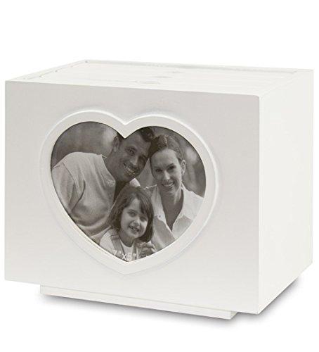 Charming House Design Encantador Diseño de casa Caja de Madera Blanca con Marco de Fotos para álbum de Fotos de Boda 96 Fotos 6 x 4 Corazones