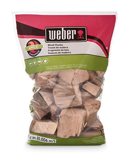 Weber 17139 Apple Wood Chunks, 350 cu. in. (0.006 Cubic Meter), m³