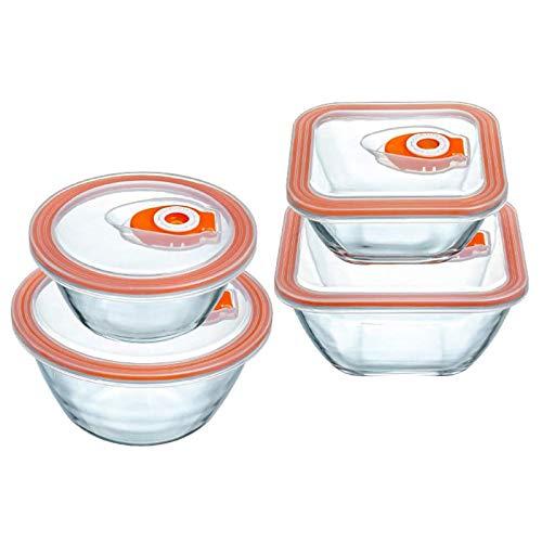 YJHH Vorratsdosen Luftdicht, Frischhaltedosen Set, Stapelbare Vorratsdosen Klein, Transparent BPA Frei Grosse Kapazität Für Obst Gemüse Fleisch Ei