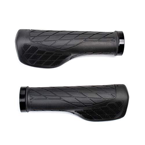 MBP Ergonomic Style Locking Bicycle Grip Soft Comfortable MTB Flat Bar Urban Trail Grips Black