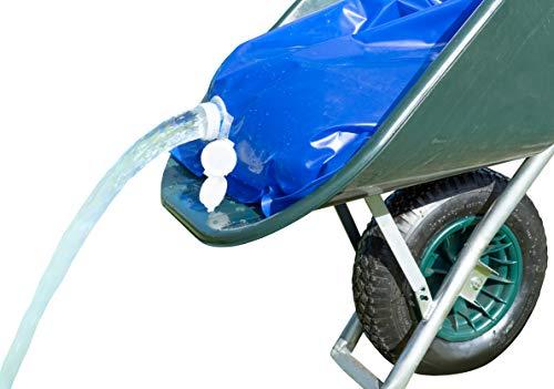 UPP Wasserbehälter für Schubkarre | Faltbarer Wassertank für effektive Gartenbewässerung, Stall & Nutztier oder BAU [50 L]