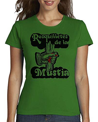 latostadora - Camiseta Rosquilletes de la Mustia para Mujer Verde S
