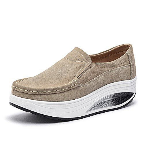 Gracosy Mocasines Slip On Plataforma Mujer Mocasines