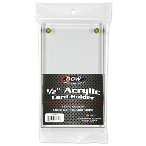 BCW 1-A050 1/2 in. Acrylic Card Holder