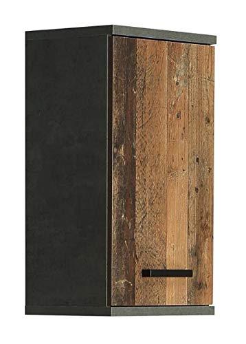 RASANTI Hängeschrank 1-TRG VERIS von Forte Beton dunkelgrau/Old-Wood Vintage