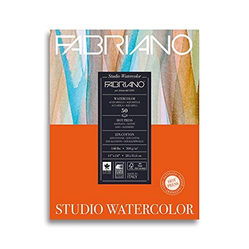 Fabriano Studio Hot Press Watercolor Pad, 11 x 14, White