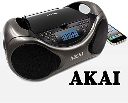 Akai CD/AM/FM Line in function AUX Portable Boombox CE2000 with LCD Display + Bass Boost