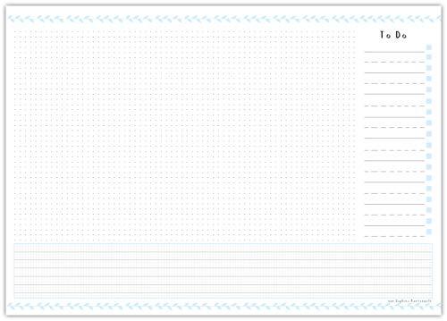 Schreibtischunterlage VIEL PLATZ aus Papier zum Abreißen im praktischen DIN A3 Format - Schreibunterlage mit 25 Blatt - Mit praktischer To Do Liste - von Sophies Kartenwelt