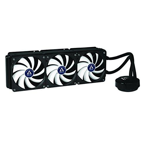 ARCTIC Liquid Freezer 360 - Sistema refrigeración líquida, Incluye 6 Ventiladores F12 PWM PST, radiador de Aluminio 390 mm de Largo y Bomba, Consumo Motor: 2W - Negro