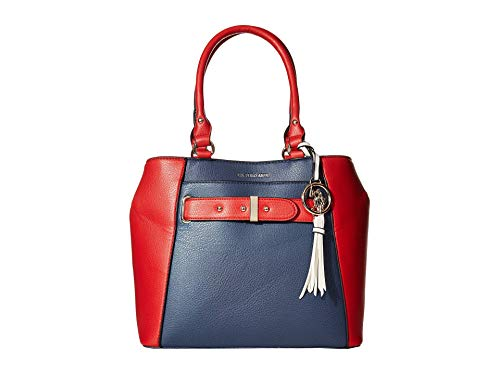 U.S. POLO ASSN. Color-Block Shopper Tote Navy/Red One Size