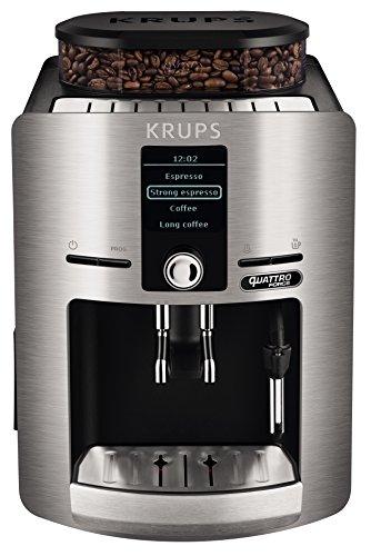 Krups Espresseria Quattro Force Cafetera Automática, 1450 W, 1.7 litros, Plateado
