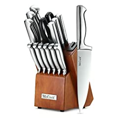 HIGH QUALITY Kitchen Knife Set - Tarnish-resistant and rust-resistant, this high carbon stainless steel cutlery set is of restaurant and culinary school knife set quality. All our knives have gone through at least 5 checks before shipping out WORLD C...