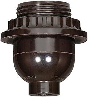 Satco BLK Phenolic S Keyless SKT 1/8 W/UNO 1/8 Cap with Set Screw Model Number 80-1072-SAT